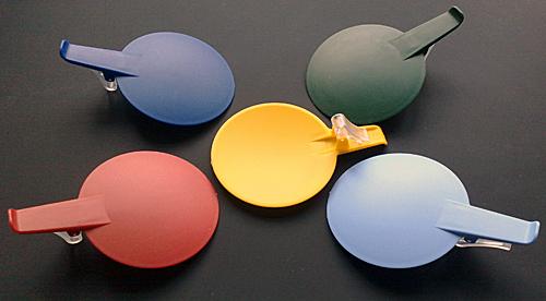 Kunststoff-Werbeartikel in verschiedenen Farben